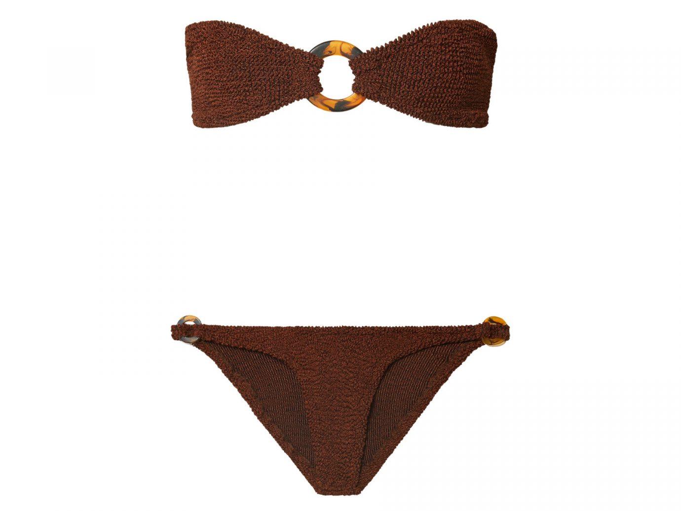 Hunza G Gloria Seersucker Bandeau Bikini