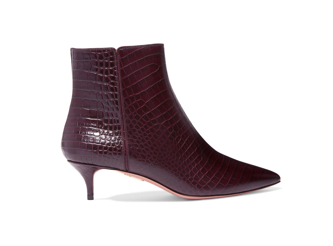 AQUAZZURA Quant croc-effect leather ankle boots