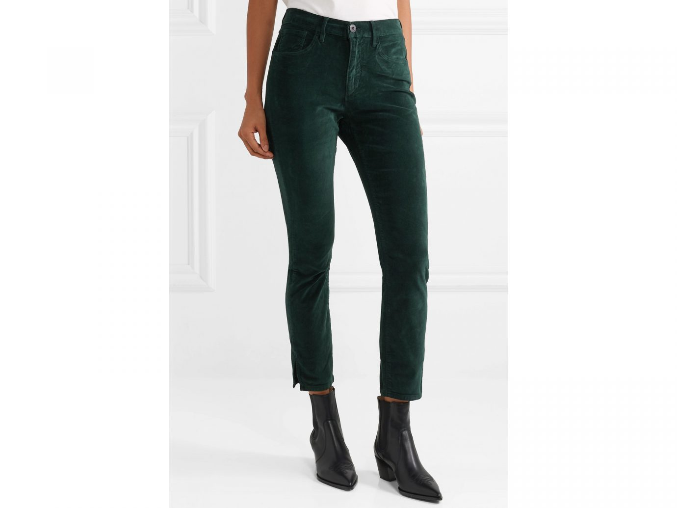 3X1 W3 Higher Ground Stretch-cotton velvet slim-leg pants