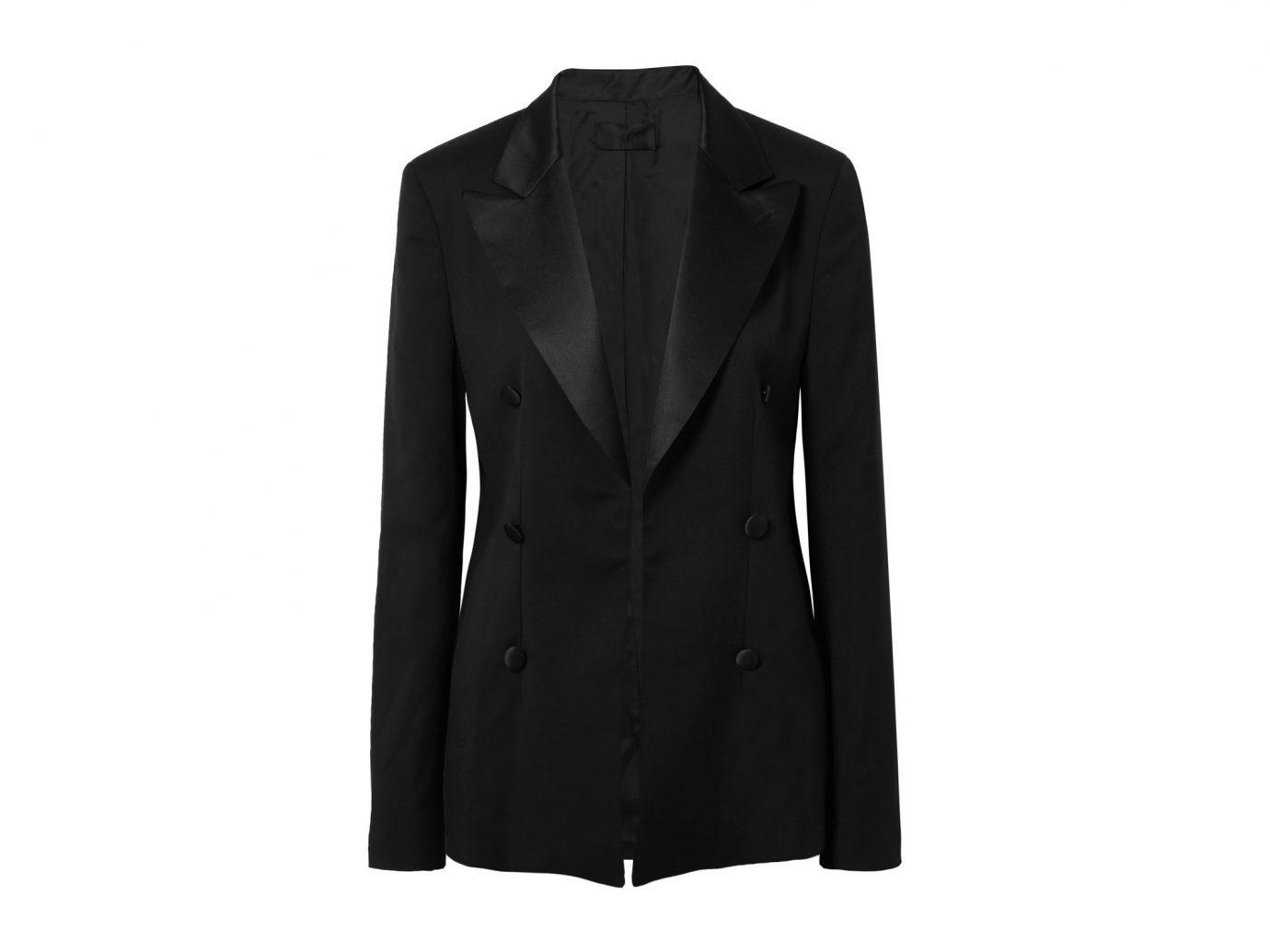 RTA Grayson silk satin-trimmed wool blazer