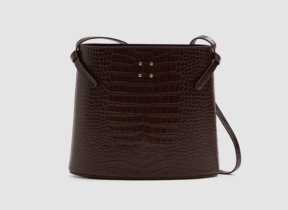 Trademark Sybil Faux Croc Bag