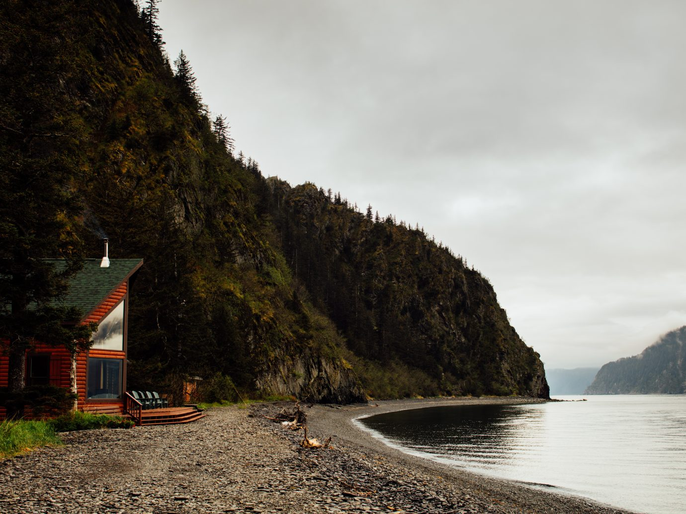 Lake view at Kenai Fjords Wilderness Lodge, Alaska