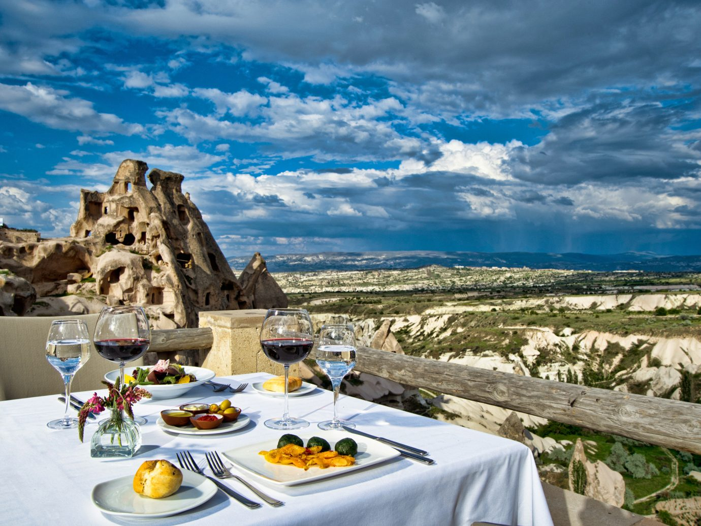 Rooftop dining experience at Argos in Cappadocia