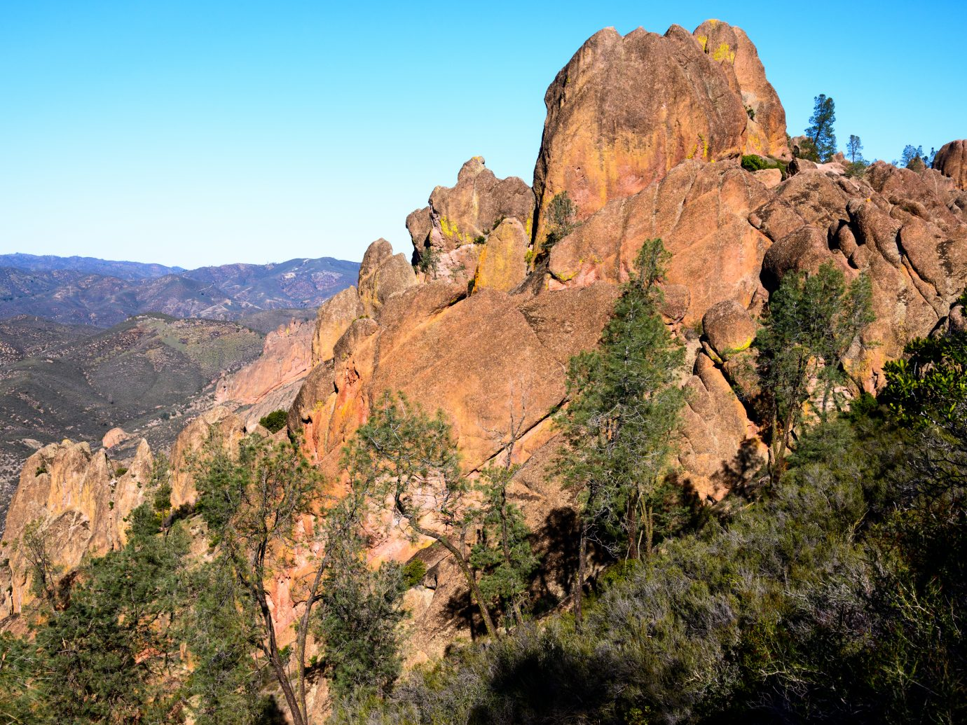 Pinnacles National Park badlands, trail, usa, andreas, geological, park, vibrant, national, wildflowers, gorges, rock, dramatic, mountains, valley, plates, cliffs, pinnacles, formation, service, volcanic, spirals, united, vegetation, fault, san, california, states, fissures, color, canyon, beauty, salinas, mediterranean, image, nature, monument, chaparral, pinnicales, ohlone, soledad, obama, central, field, francisco, theodore, bay, barack, roosevelt, monterey
