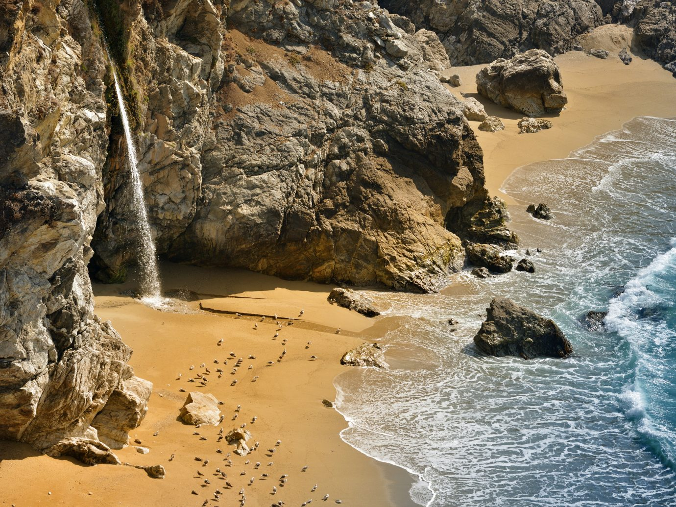 Beautiful famous Pfeiffer Beach on Highway 1.