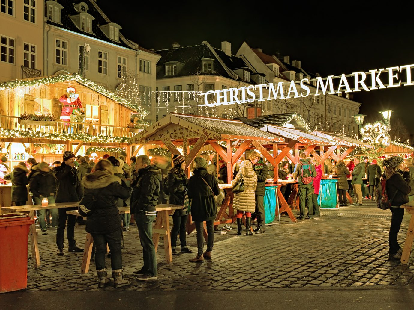 Deutsch's Christmas Market on Hojbro Plads square. The organizer of the market is Michael Deutsch therefore it named Deutsch's Christmas Market.
