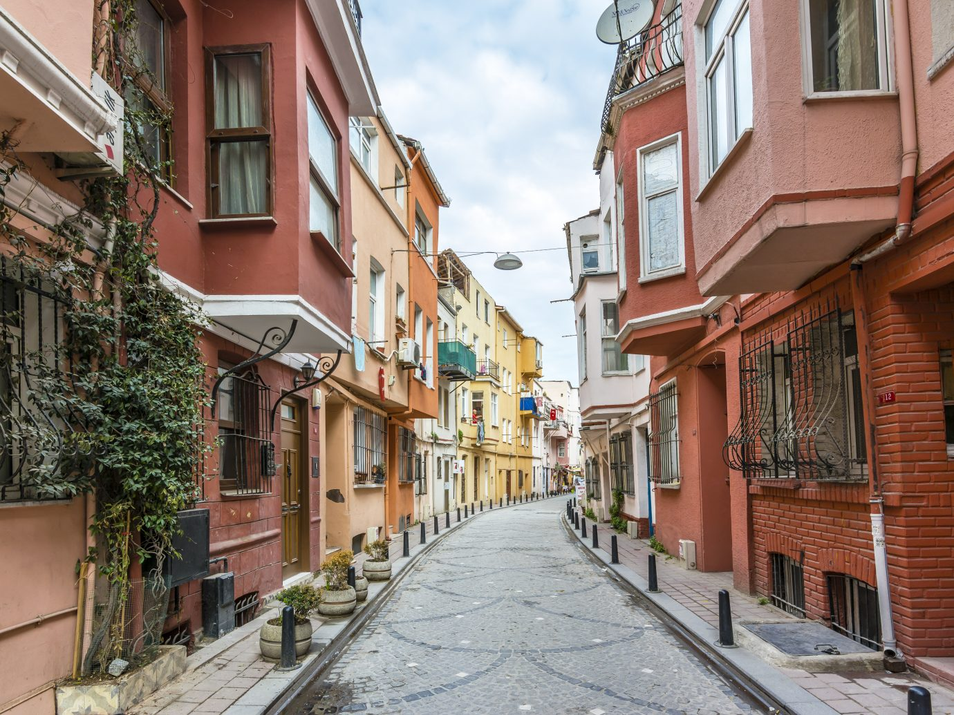 Balat is popular tourist attraction in Istanbul, Turkey.