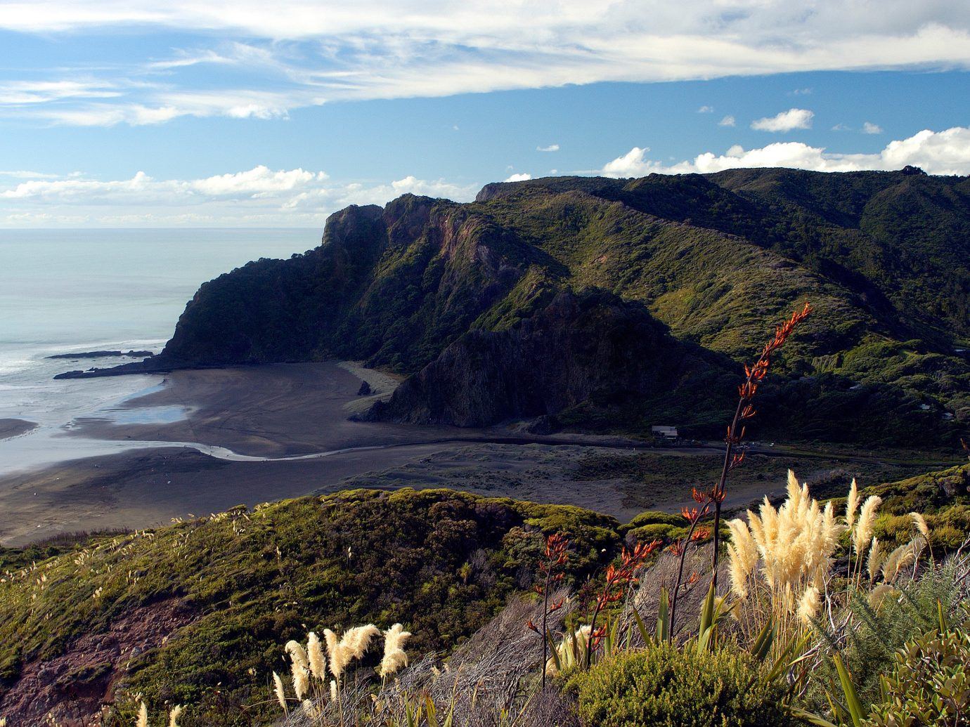 Scenic shot of Karekare Beach