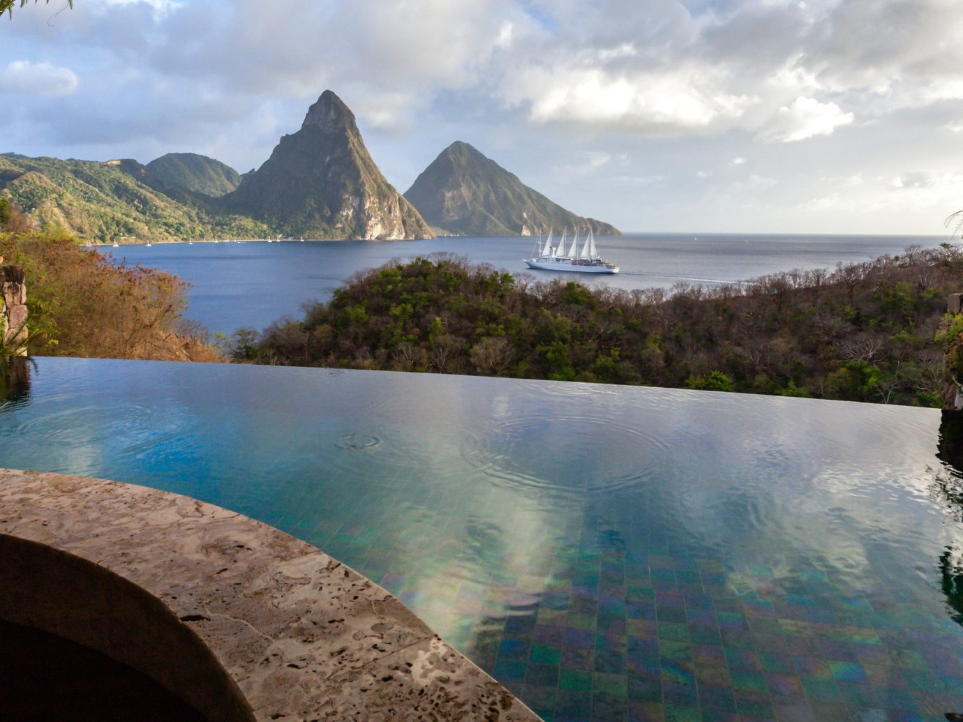 Infinity pool in Saint Lucia