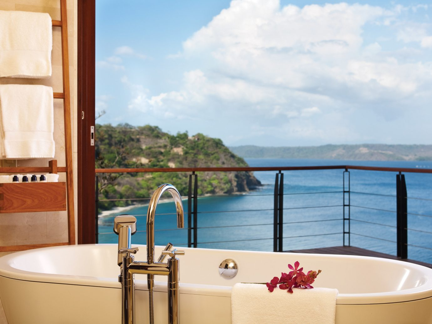 Bathtub and view at the Four Seasons Costa Rica