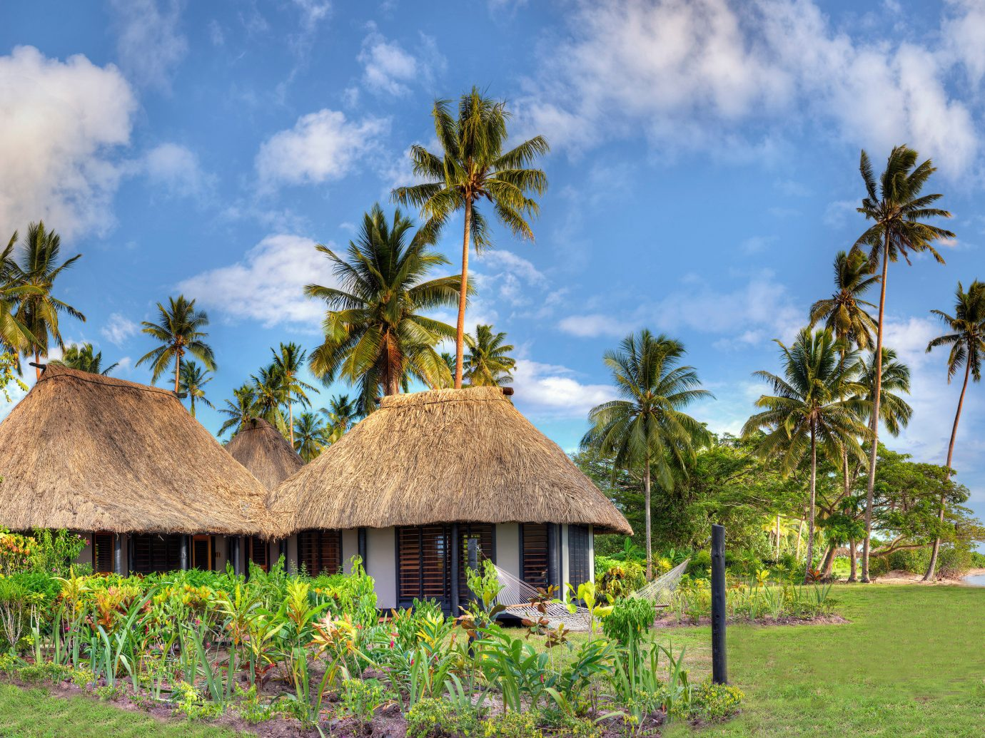 Huts at Jean-Michel Cousteau Resort