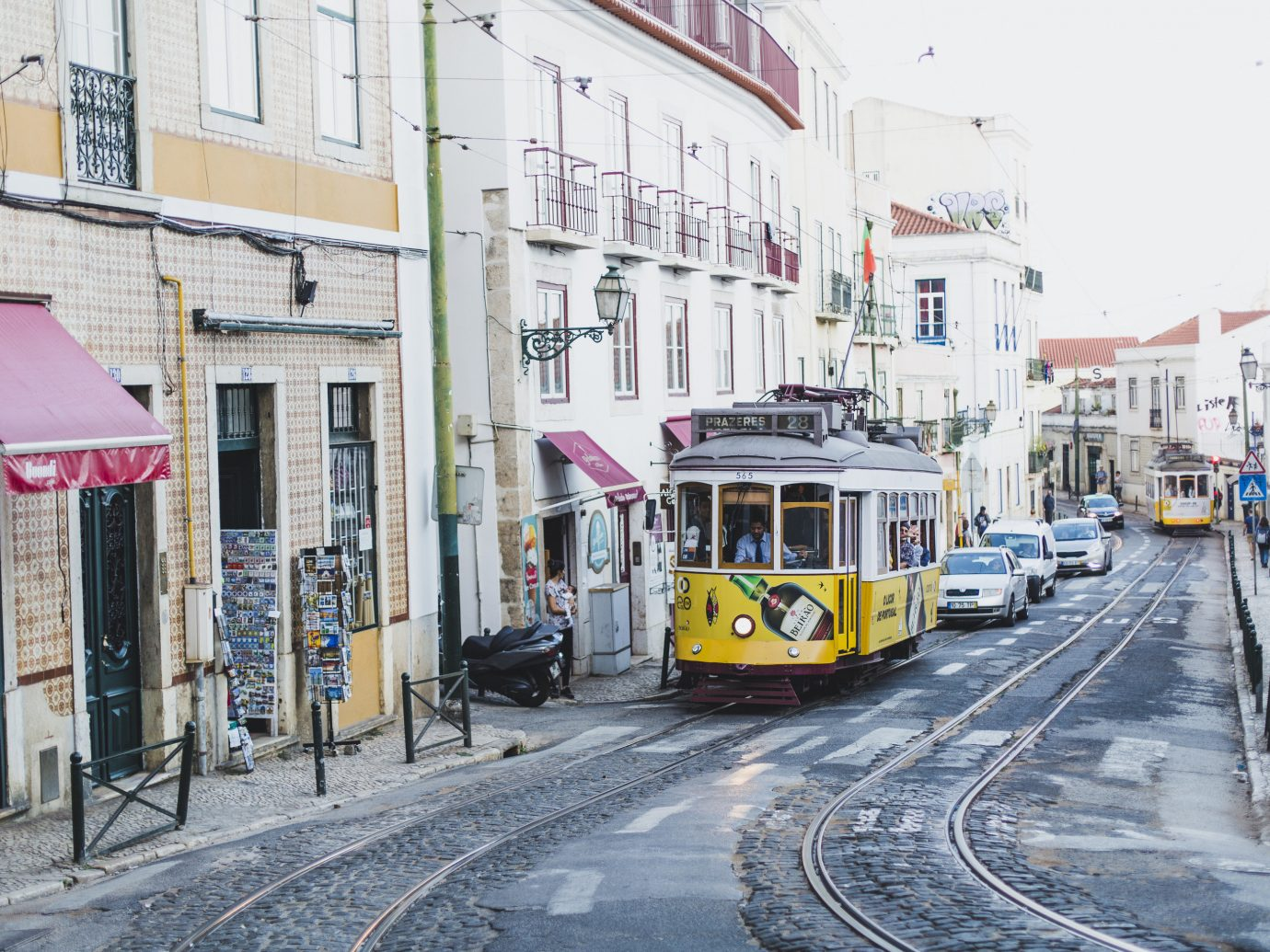 Trolly car in Lisbon Portugal