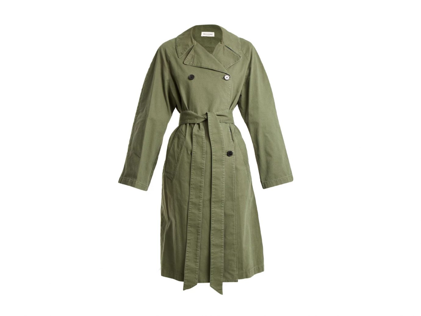 MASSCOB Double-breasted cotton trench coat