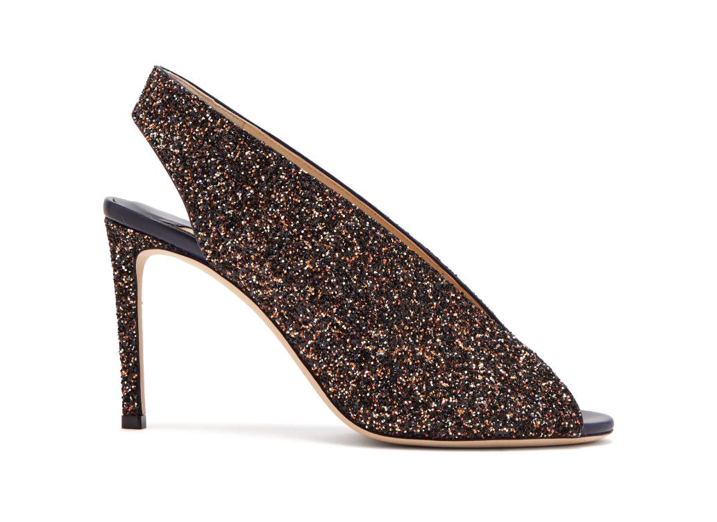 Jimmy Choo Star 85 peep-toe leather slingback sandals