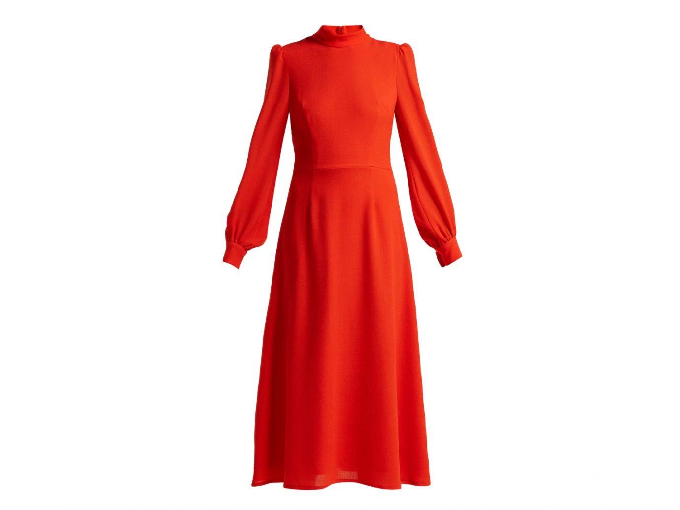 Goldfinch wool-crepe dress