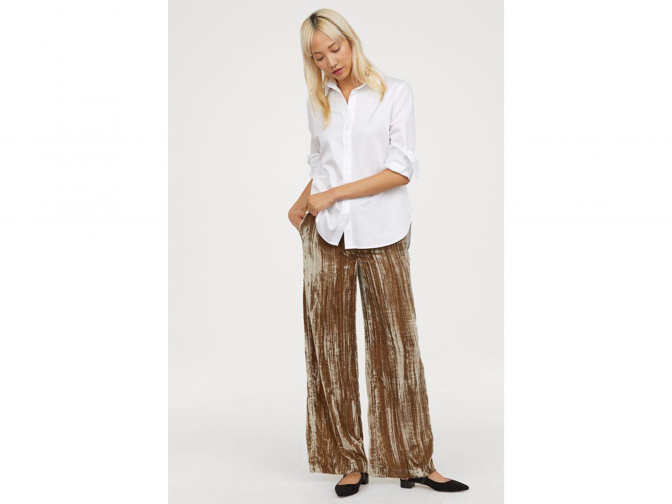 H&M Crushed-velvet Pants