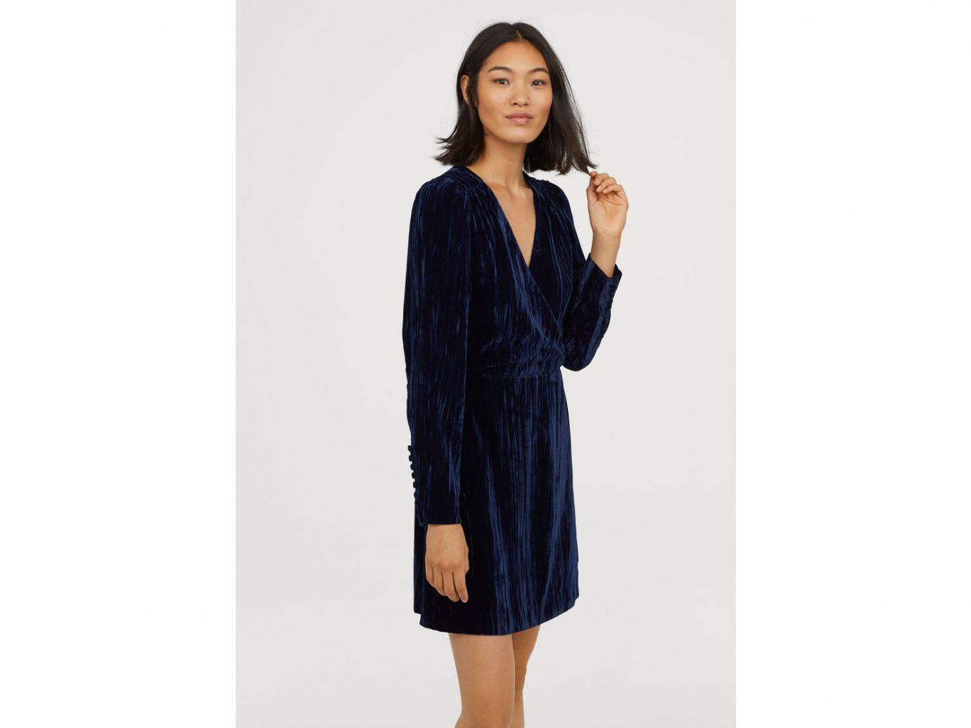 H&M Crushed-velvet Dress