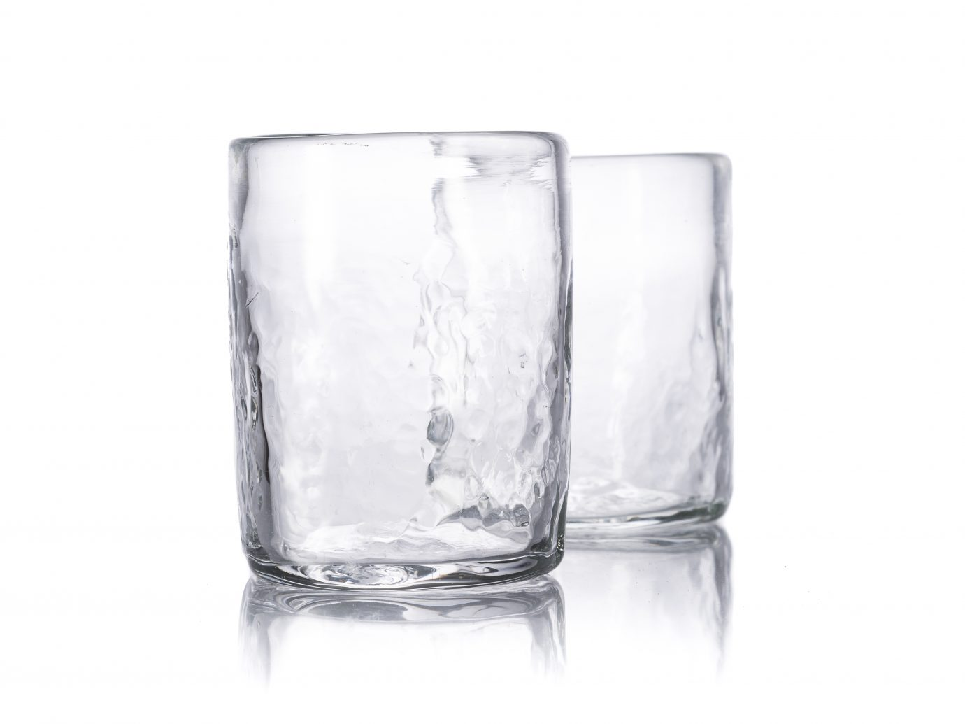 Studio Xaquixe Glasses, handmade drinking glasses from oaxaca with bubbles in them
