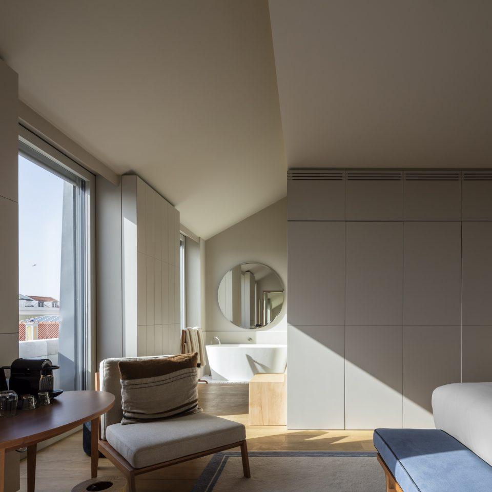 Modern room interior at Verride Palácio Santa Catarina