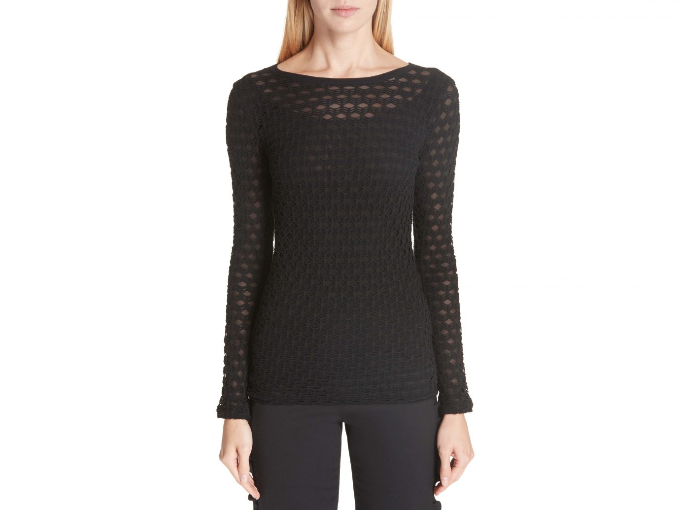 Long Sleeve Cutout Top FUZZI
