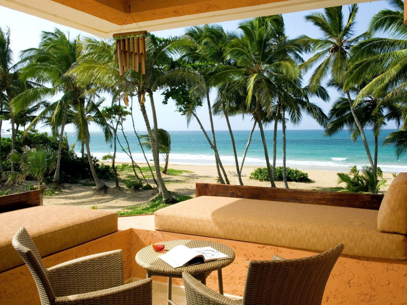 Relaxing nook overlooking the Caribbean