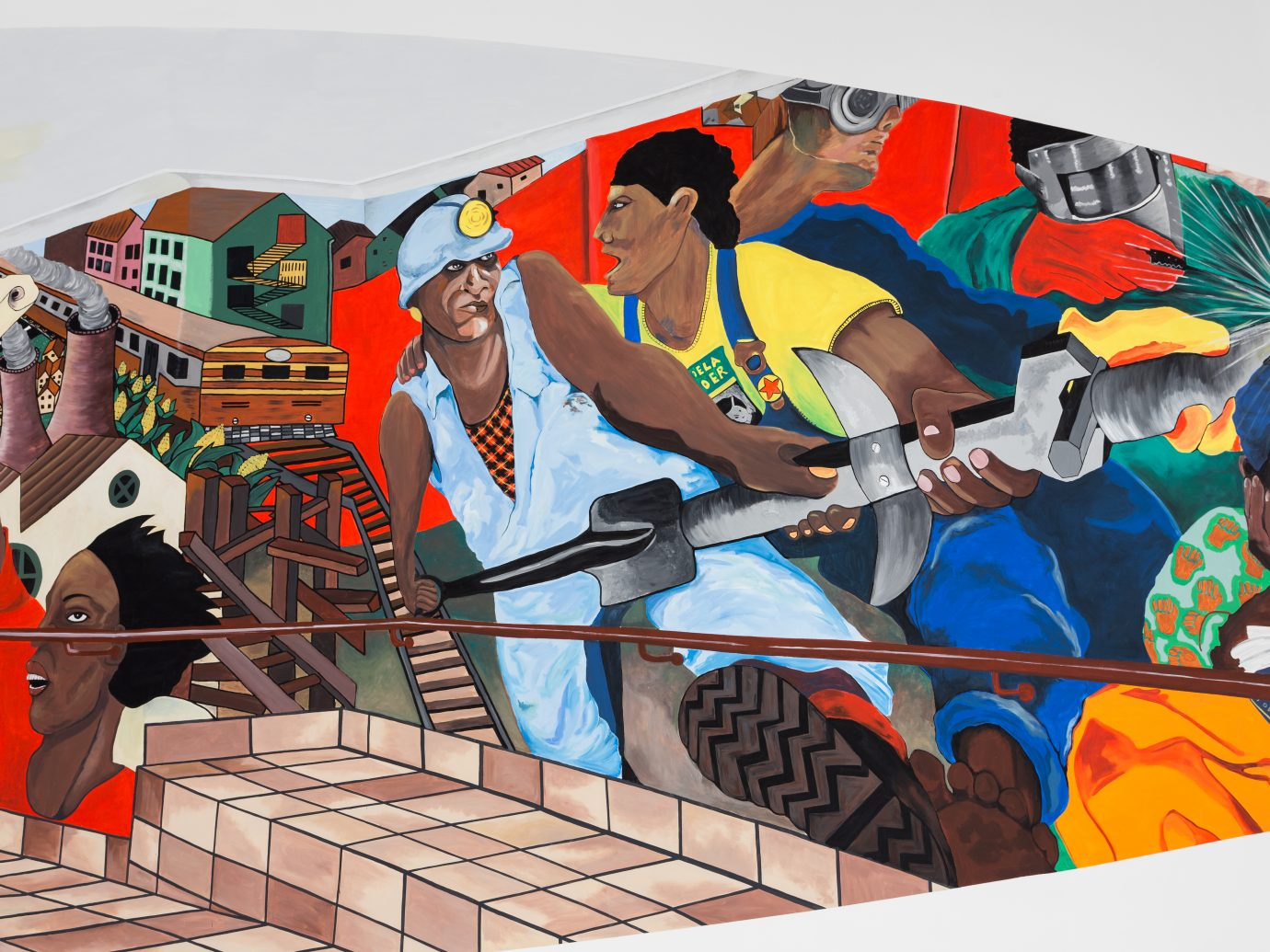 Pan African Unity Mural by Ângela Ferreira