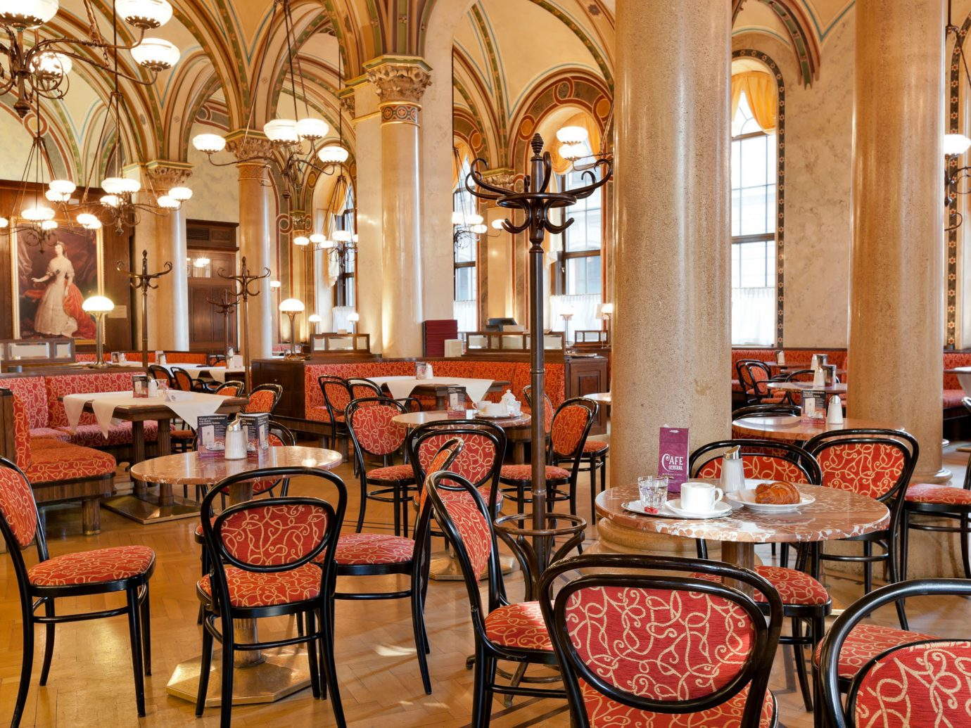 Open view of Cafe Central in Vienna