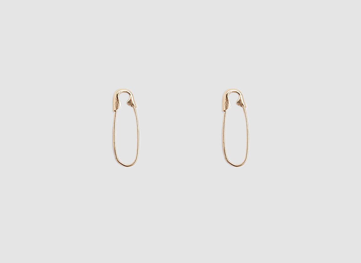 Loren Stewart Mini Safety Pin Earrings