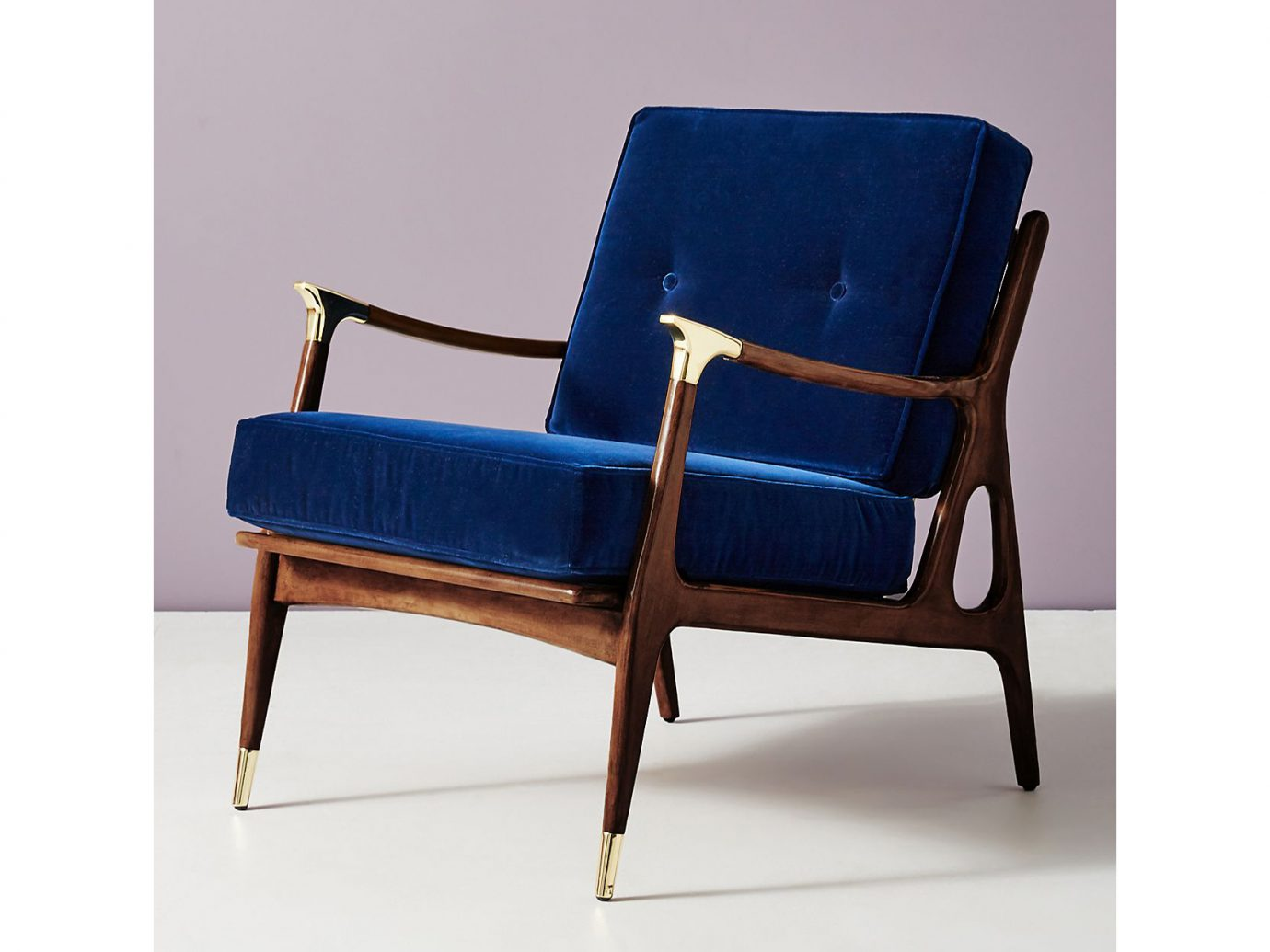 Anthropologie Velvet Haverhill Chair