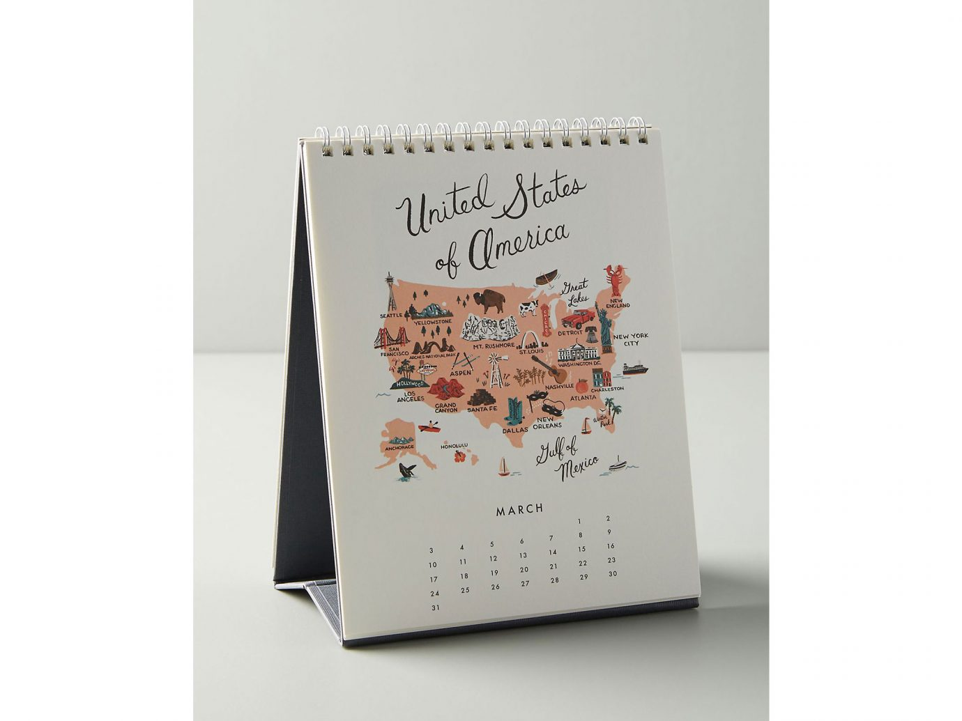 Rifle Paper Co. Maps Desk Calendar
