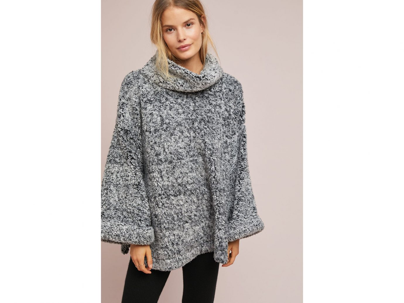 Turtleneck: Anthropologie Sherpa Turtleneck Pullover