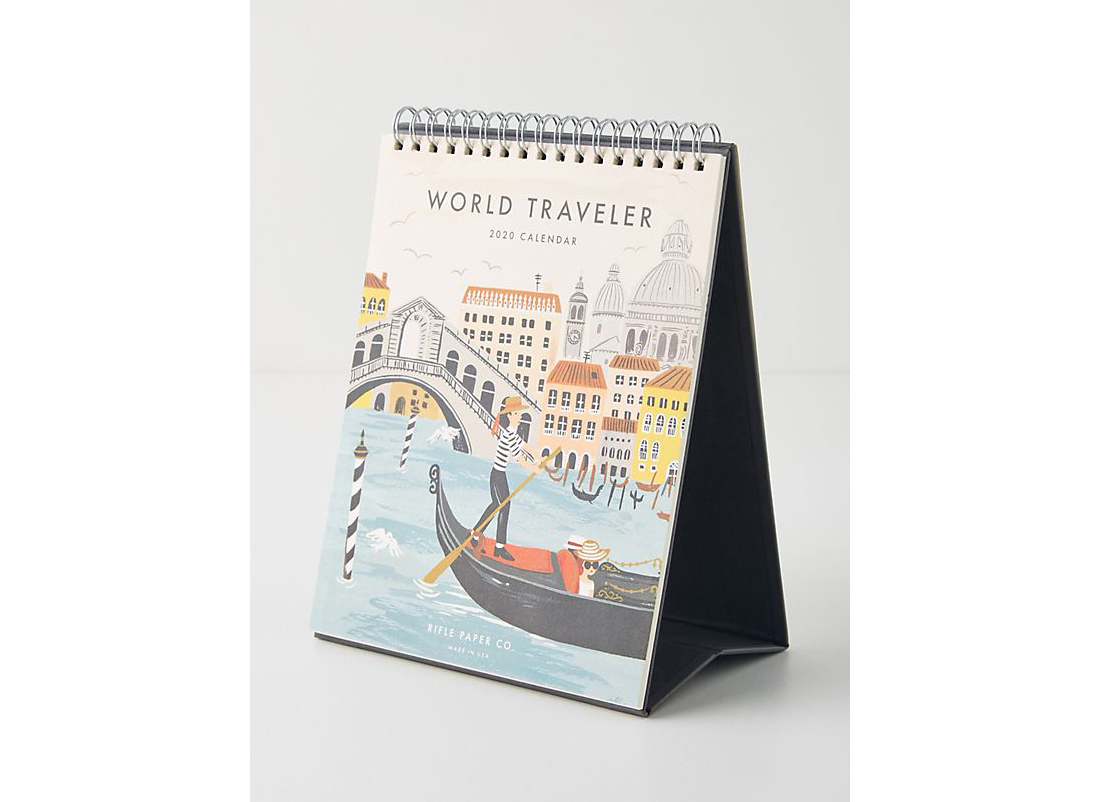 Rifle Paper Co. World Travel 2020 Desk Calendar