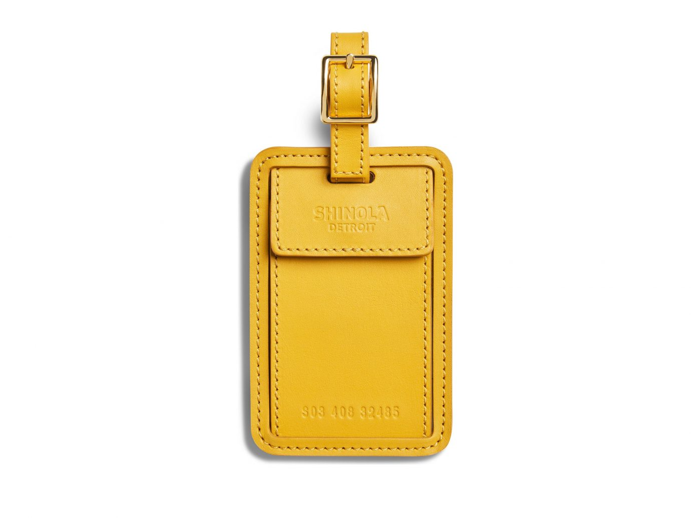 Shinola Leather Luggage Tag