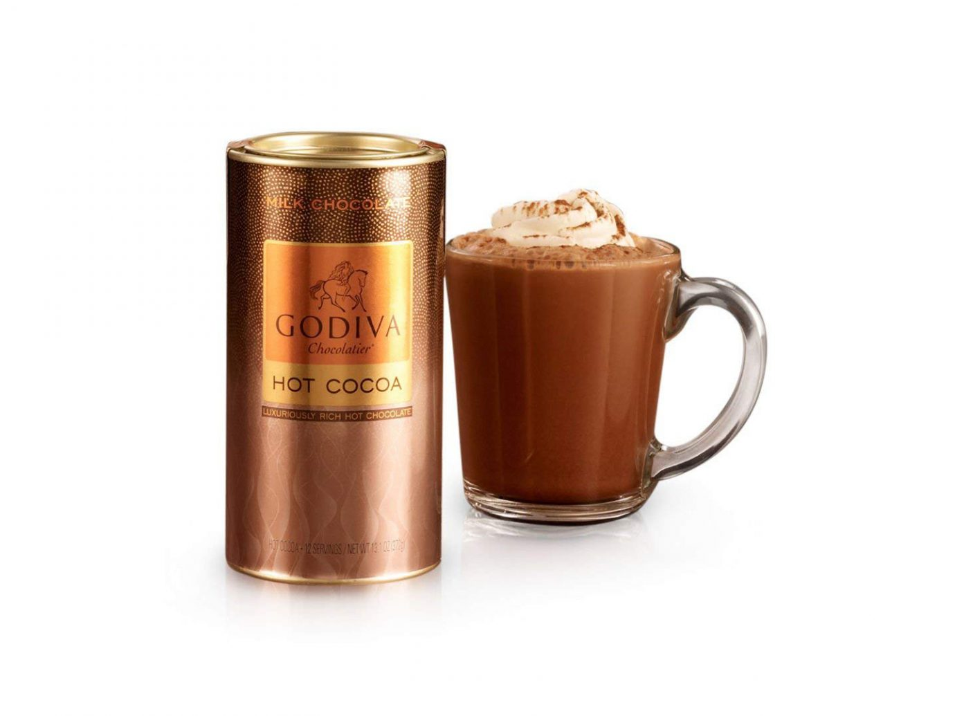 Hot Cocoa: GODIVA Chocolatier Milk Chocolate Hot Cocoa Canister