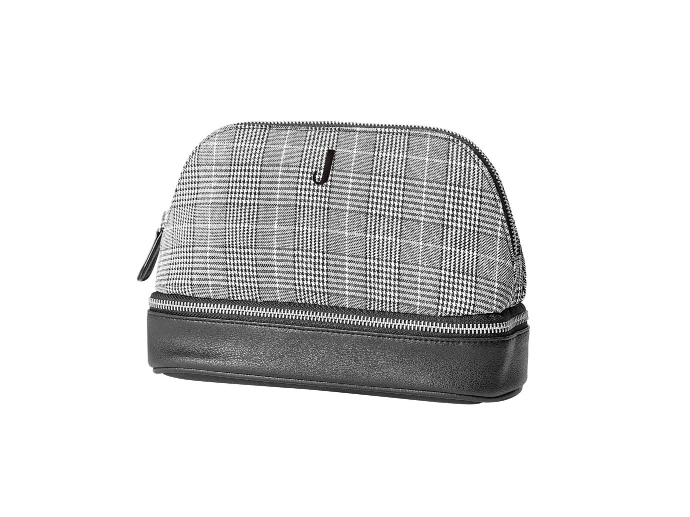 Cathy's Concepts Monogram Glen Plaid Travel Case