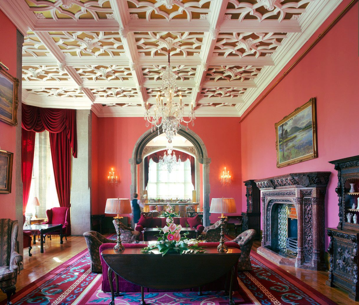 Living room at Adare Manor in Ireland