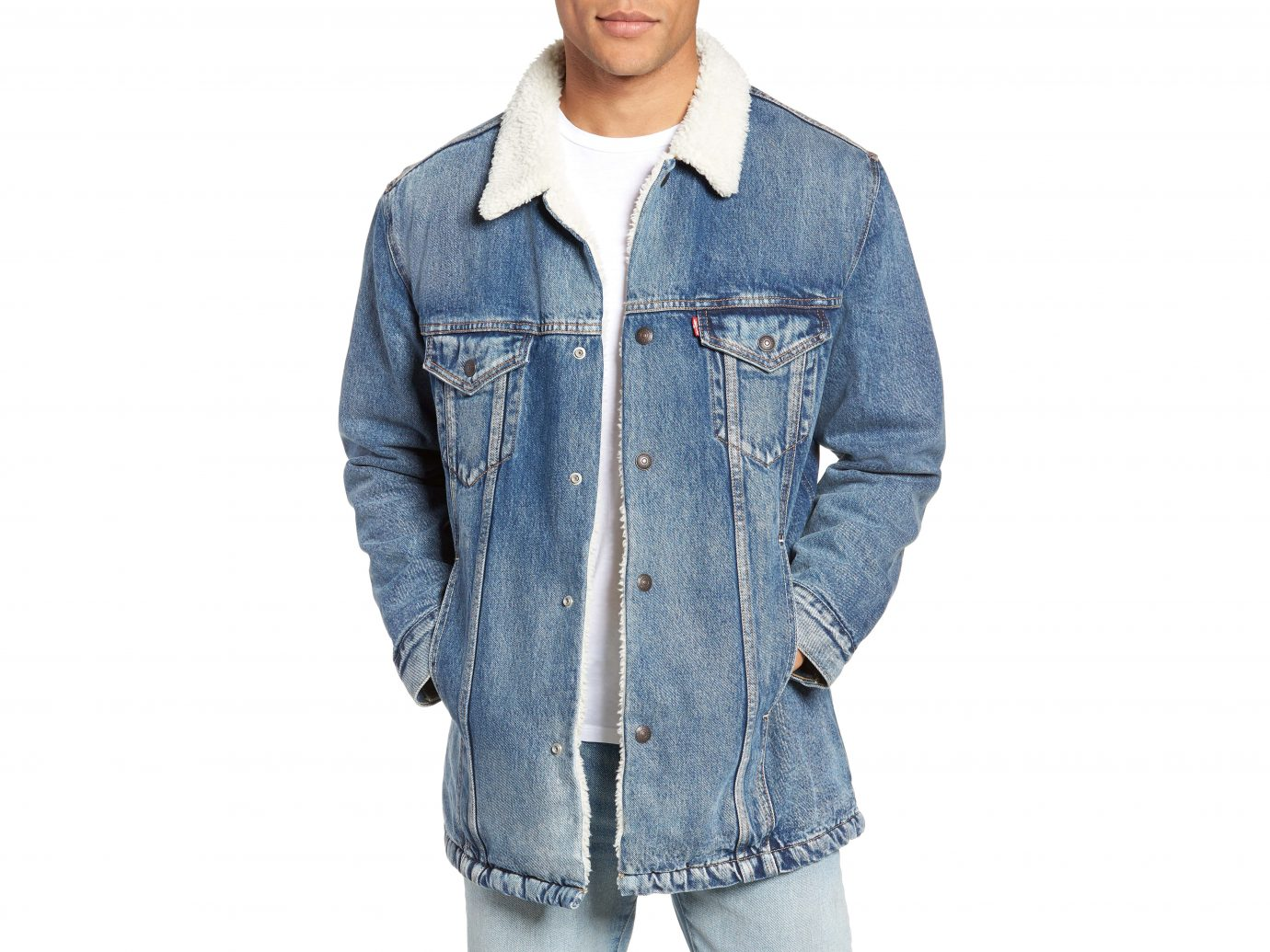 Levi's Long Faux Fur Lined Trucker Jacket