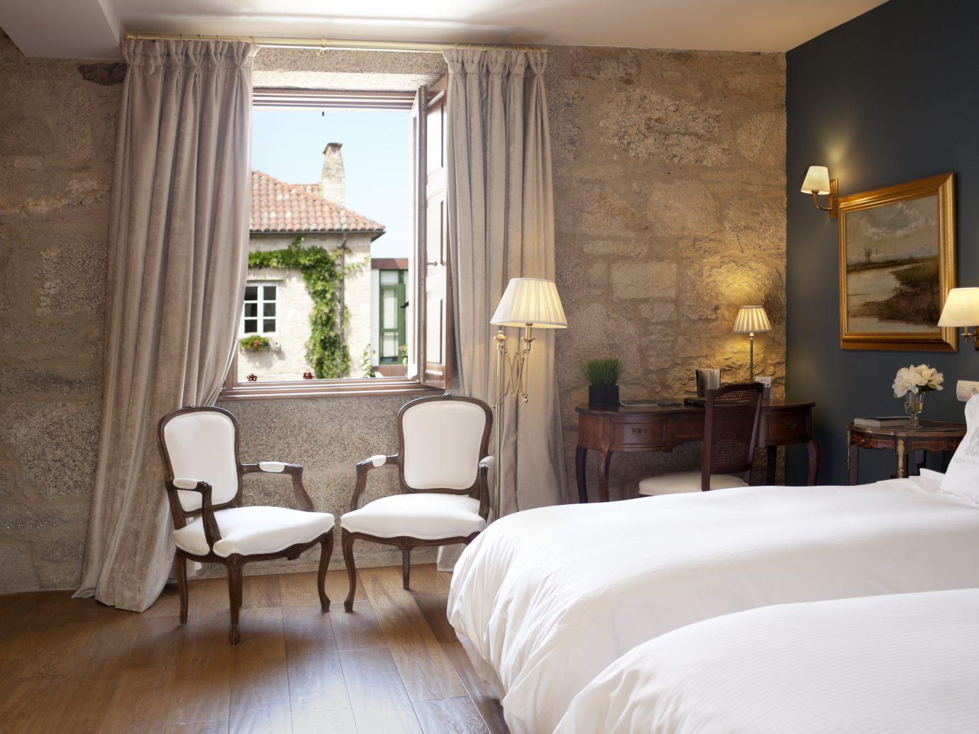 Guestroom at the Hotel Spa Relais & Chateaux A Quinta da Auga, Santiago de Compostela, Spain