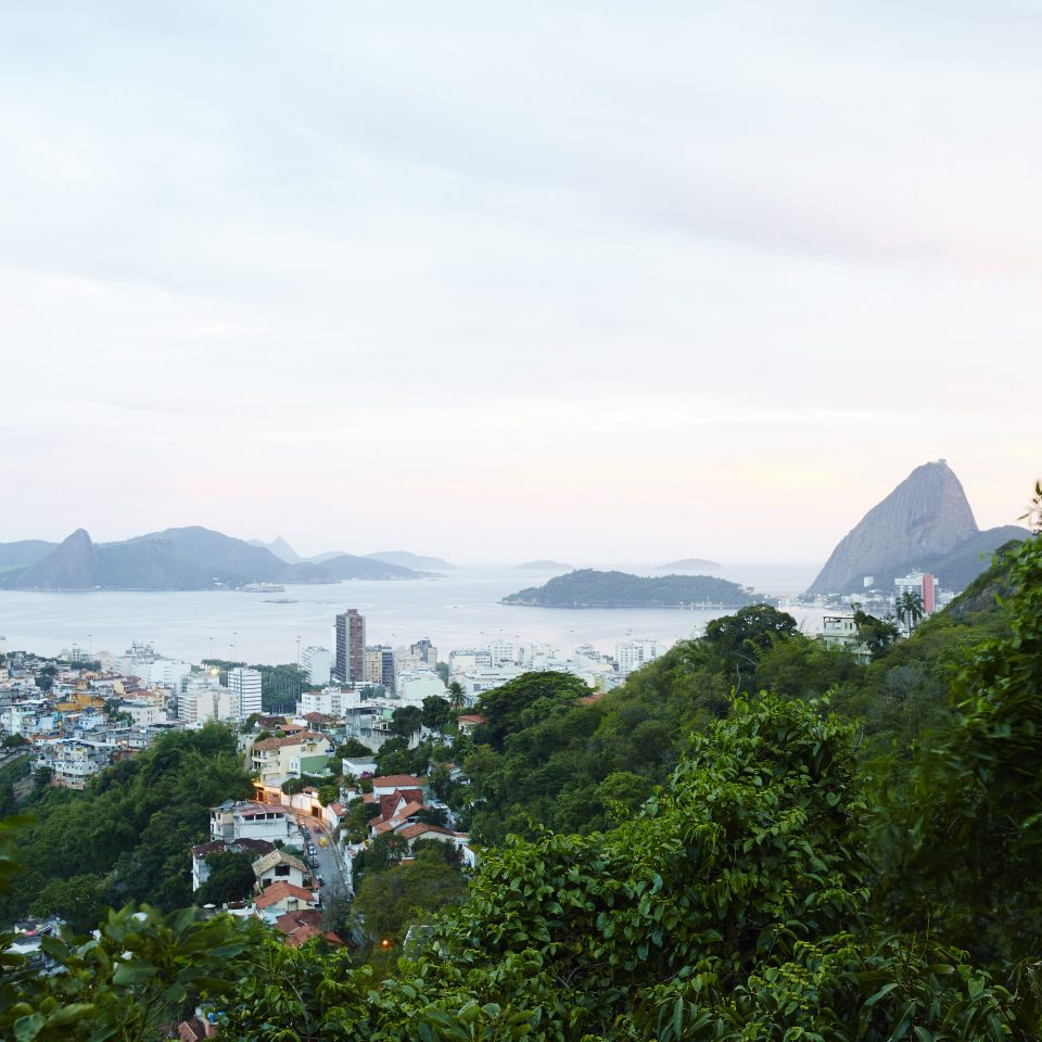 Beautiful view of Rio and mountainous islands in water