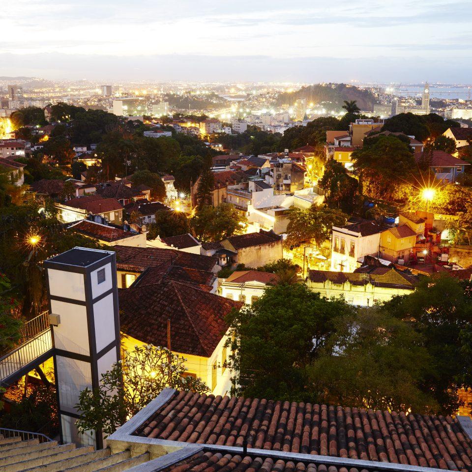 Rio rooftops at night