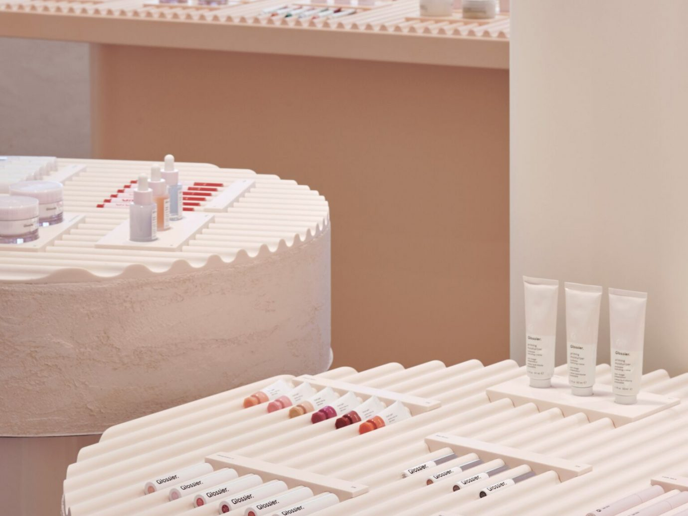 Glossier flagship store interior