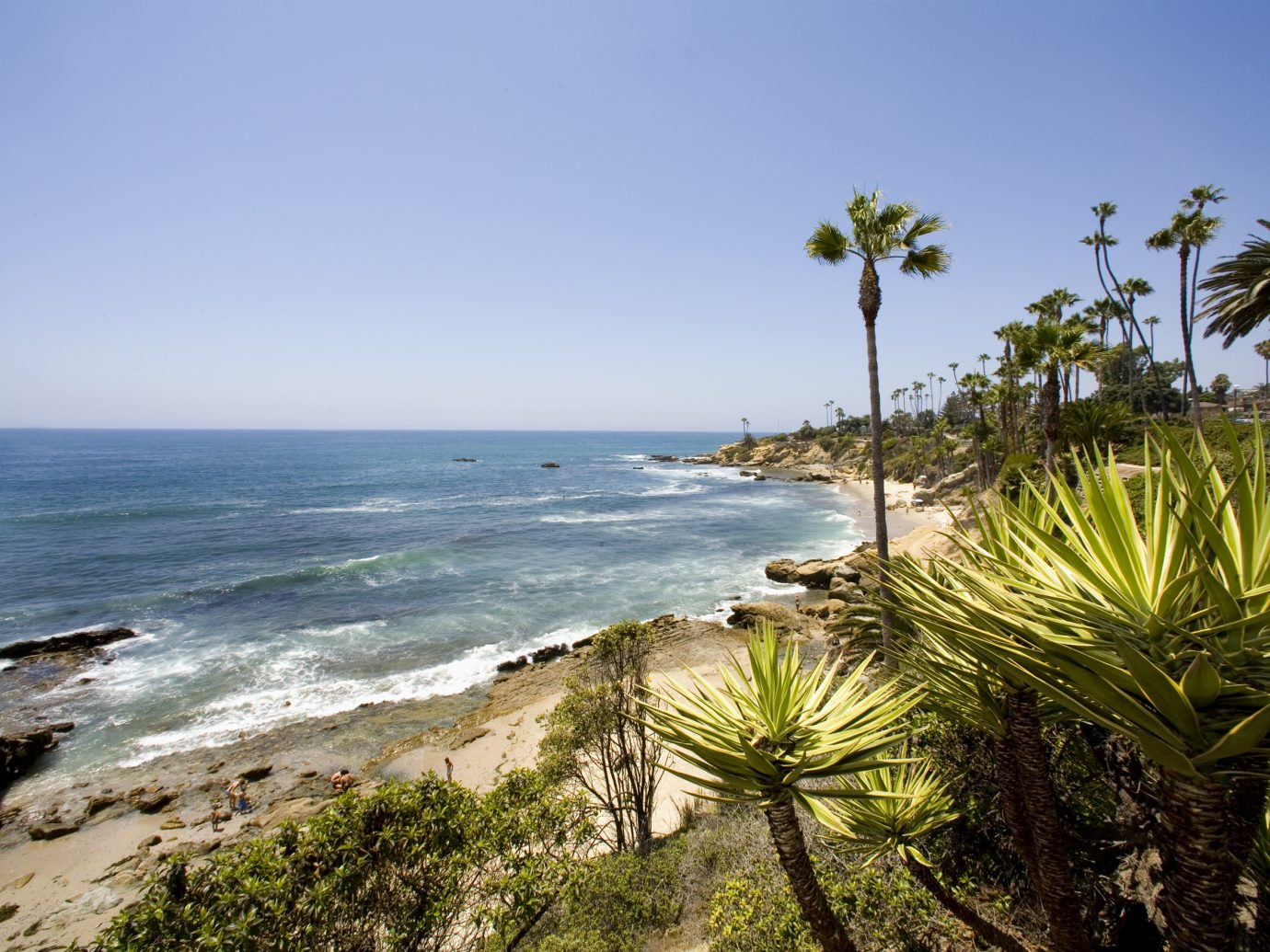 Beautiful view of North Laguna Beach, in sunny southern California.