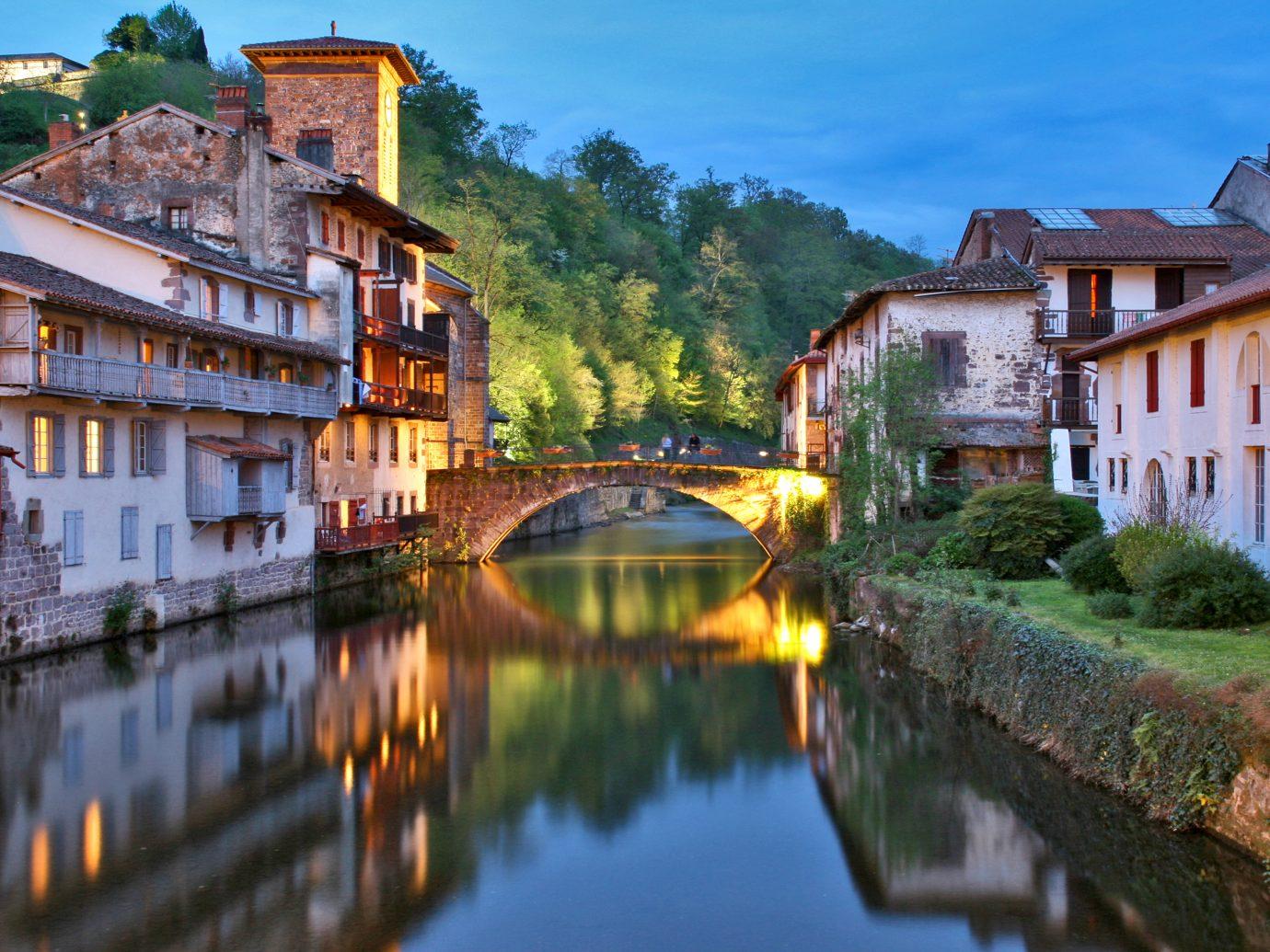 a bridge over the canal in Santiago de Compostela, Galicia, Spain