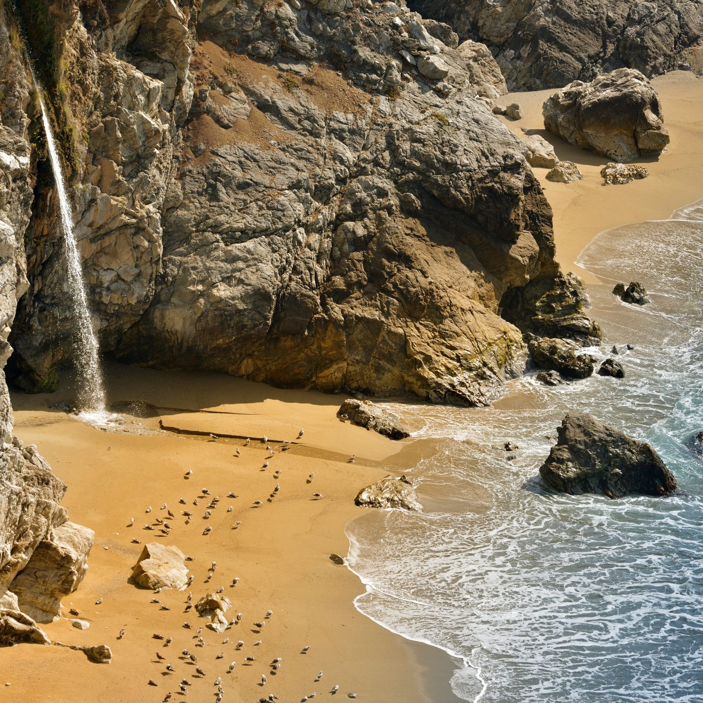 Pfeiffer Beach on Pacific Coast Highway