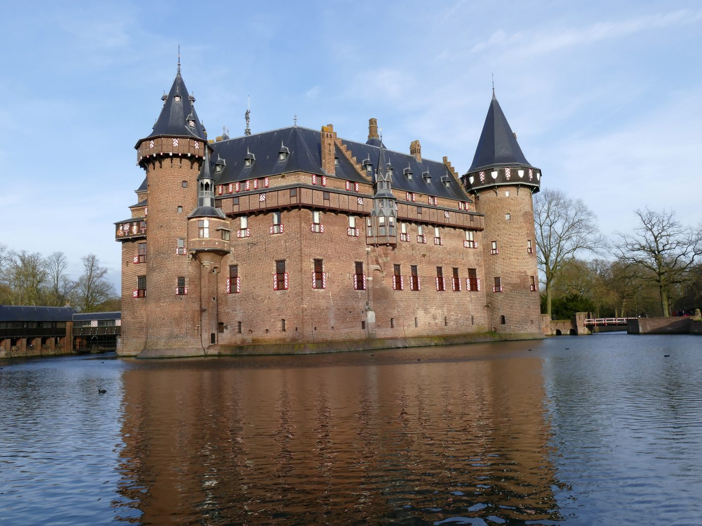 An exterior view of Castle de Haar of the Netherlands.