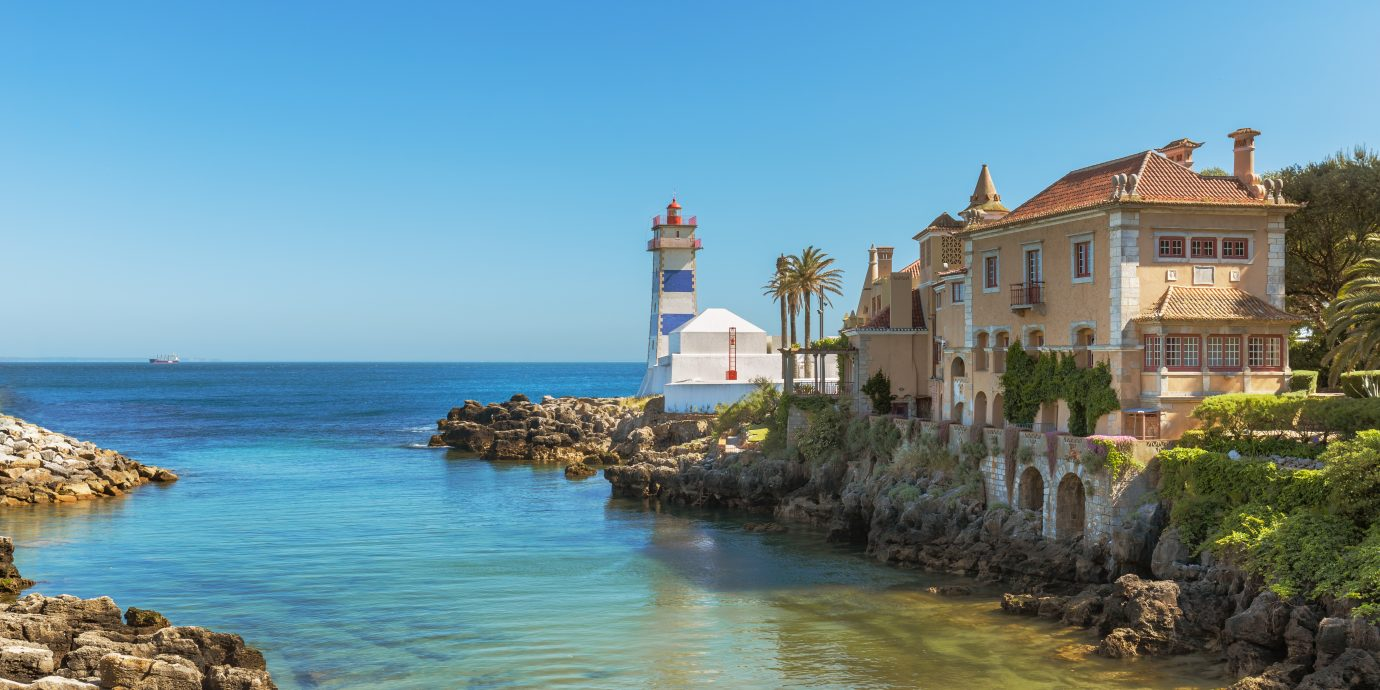 Santa Marta Lighthouse in Cascais, Portugal