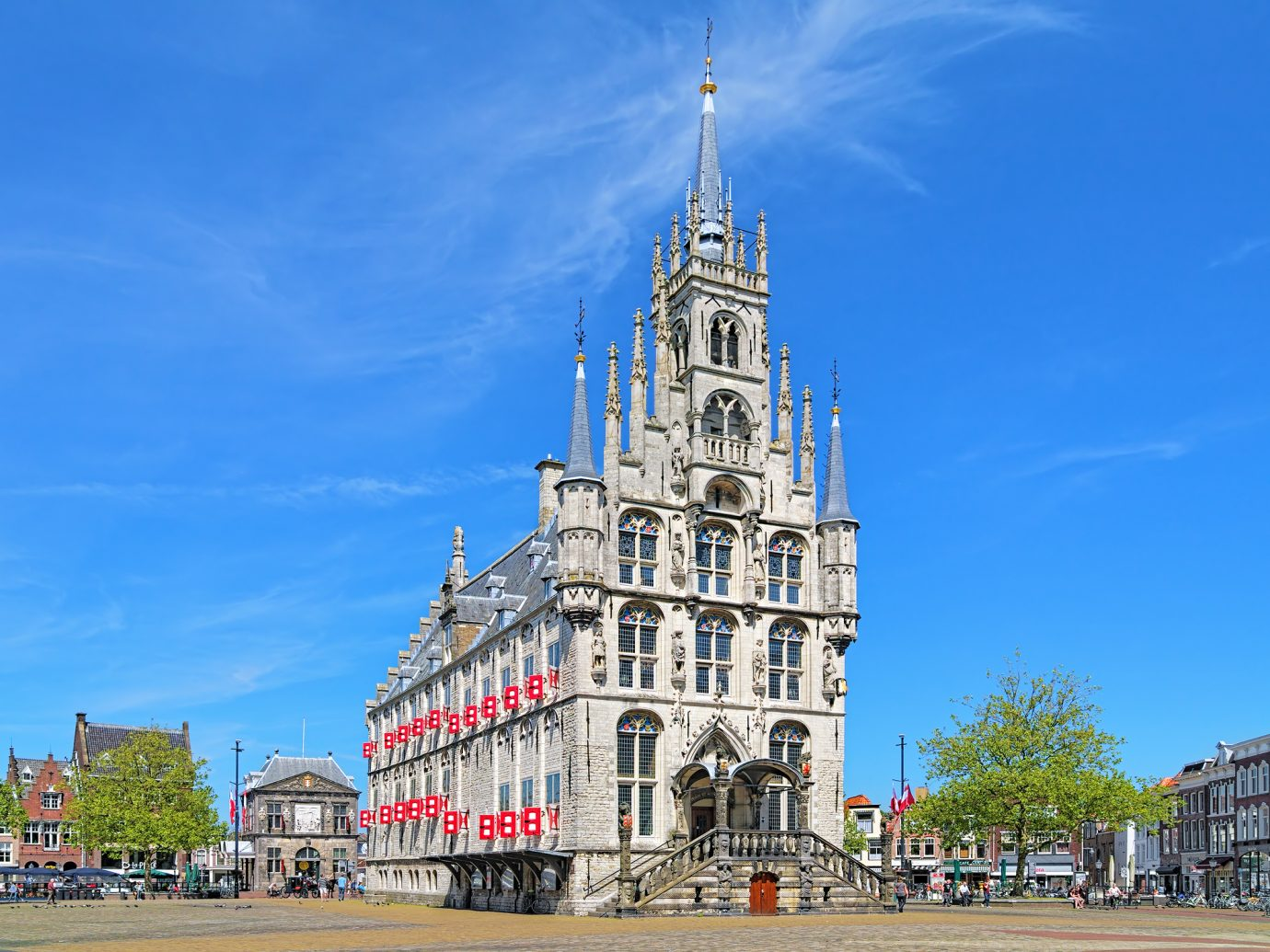 Town Hall of Gouda on the Markt square in Gouda, The Netherlands