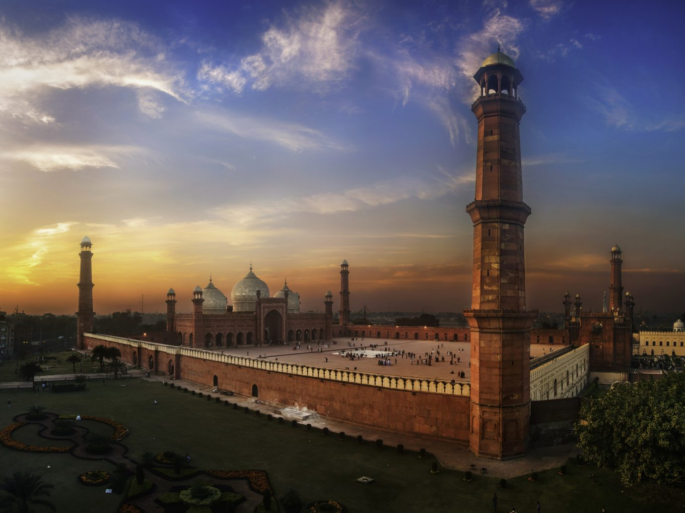 "The Badshahi Mosque or ""Imperial Mosque"" is a Mughal era mosque in Lahore, capital of the Pakistani province of Punjab. The mosque is located west of Lahore Fort along the outskirts of the Walled City of Lahore. The mosque is widely considered to be one of Lahore's most iconic landmarks."