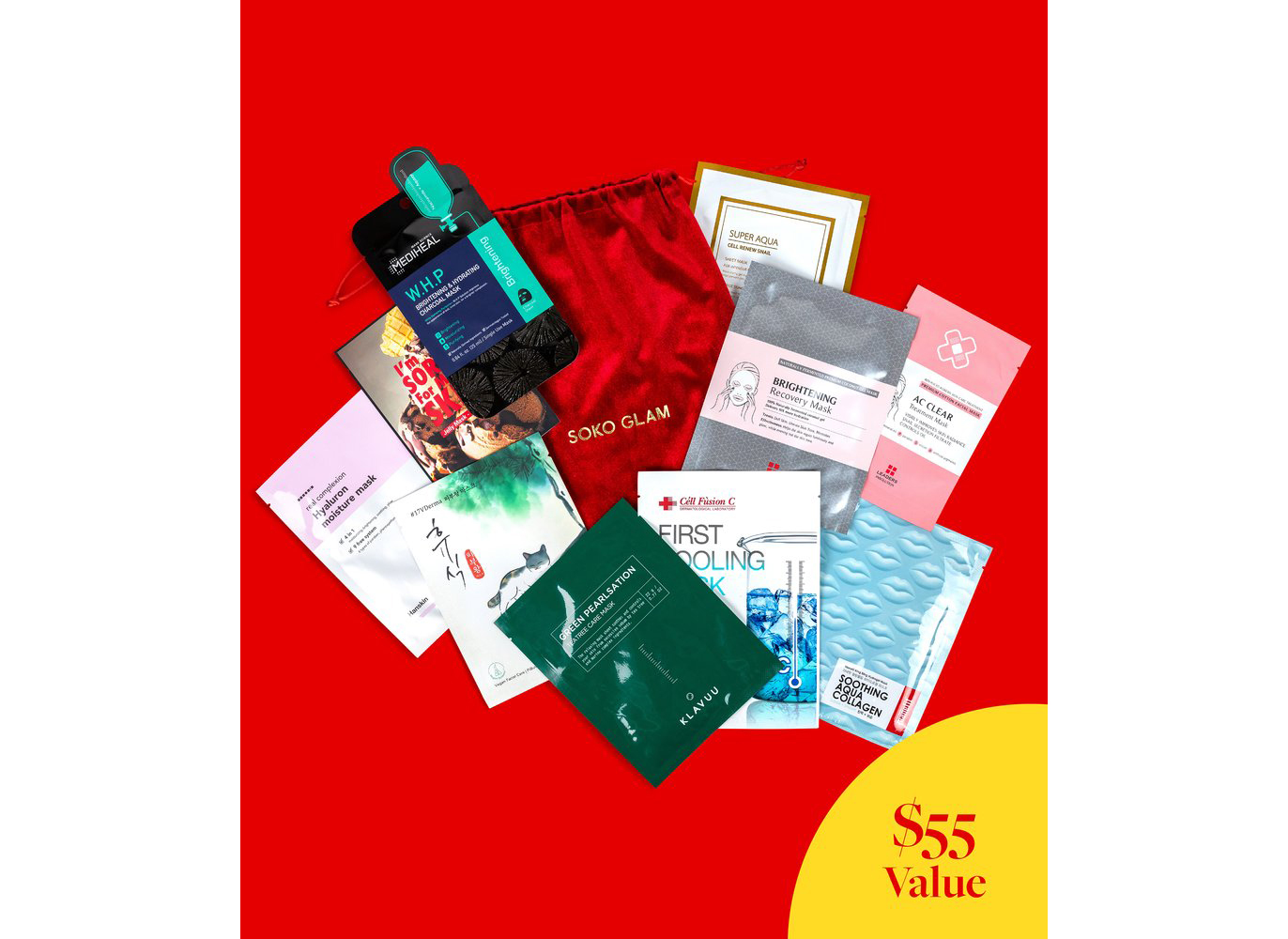 Soko Glam Merry & Bright Sheet Mask Set
