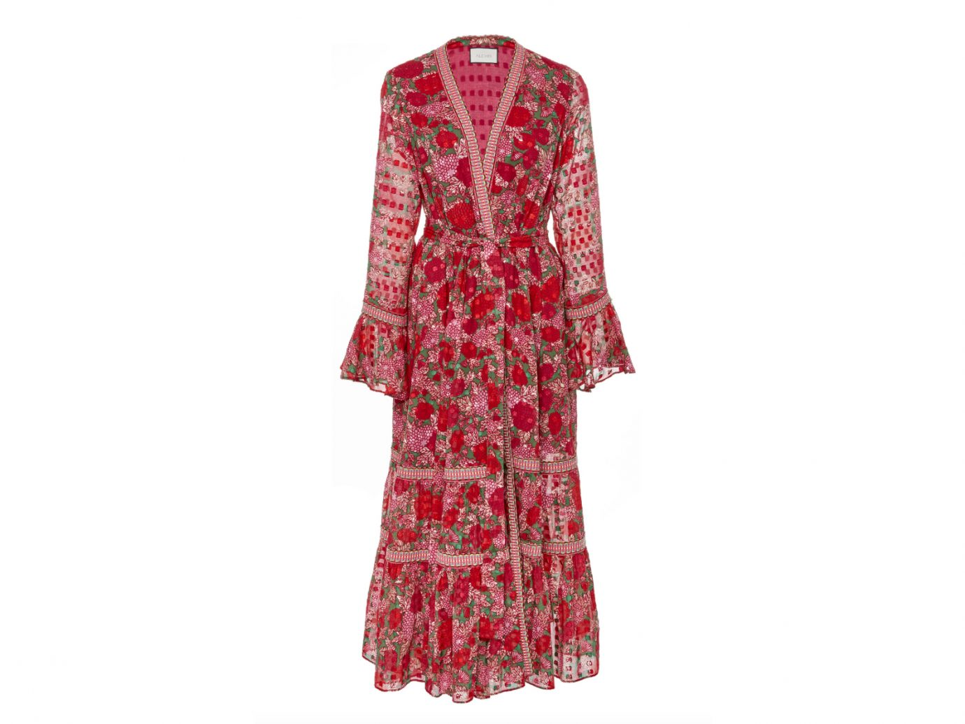 Alexis Marcas Long Sleeve Printed Midi Dress